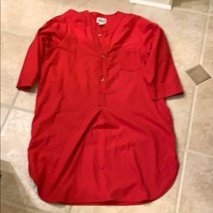 Woolrich vintage men's night shirt red L